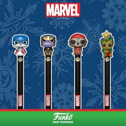 Picture of POP! PEN TOPPER MARVEL HOLIDAY- CAP AMERICA
