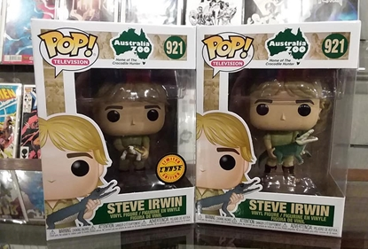 Picture of FUNKO POP! TELEVISION STEVE IRWIN CROCODILE HUNTER #921 SET CHASE & COMMON NEW VINYL FIGURE