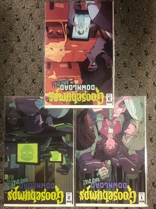 Picture of GOOSEBUMPS DOWNLOAD AND DIE #1 2 3 SET