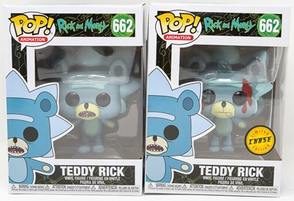 Picture of FUNKO POP ANIMATION RICK AND MORTY TEDDY RICK #662 COMMON & CHASE SET OF 2 NEW