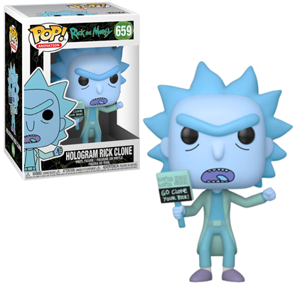Picture of FUNKO POP ANIMATION RICK AND MORTY HOLOGRAM RICK CLONE #659 NEW VINYL FIGURE