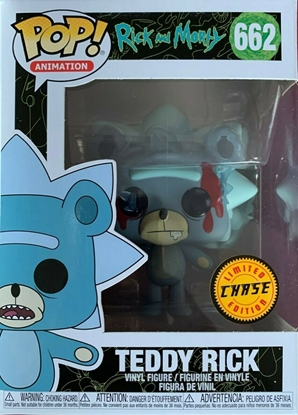 Picture of FUNKO POP ANIMATION RICK AND MORTY TEDDY RICK #662 CHASE NEW VINYL FIGURE