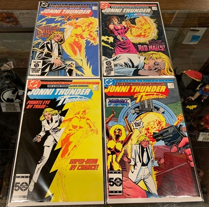 Picture of JONNI THUNDER (1985) #1-4 AKA THUNDERBOLT SET VF/NM DC COMICS