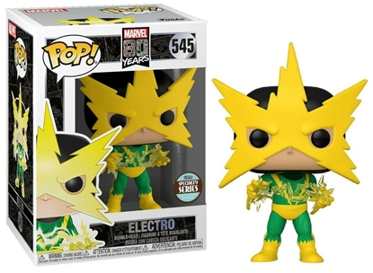 Picture of FUNKO POP MARVEL 80 YEARS 1ST APPEARANCE ELECTRO #545 SPECIALTY SERIES  NEW VINYL FIGURE