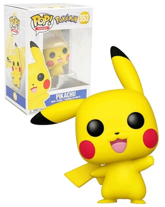 Picture of FUNKO POP GAMES POKEMON PIKACHU #553 NEW VINYL FIGURE