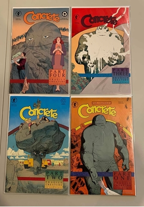 Picture of CONCRETE (1991) #1-4 COMPLETE SET VF/NM