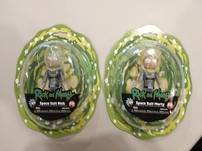 "Picture of FUNKO 5"" ARTICULATED SPACE SUIT RICK AND MORTY ACTION FIGURE SET OF 2 ADULT SWIM NEW"