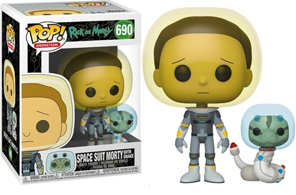 Picture of FUNKO POP ANIMATION RICK AND MORTY SPACE SUIT MORTY W/ SNAKE #690 NEW VINYL FIGURE