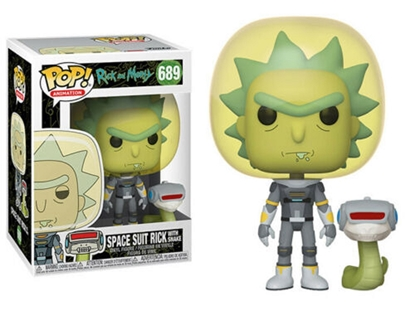 Picture of FUNKO POP ANIMATION RICK AND MORTY SPACE SUIT RICK W/ SNAKE #690 NEW VINYL FIGURE