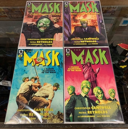 Picture of MASK I PLEDGE ALLEGIANCE TO THE MASK (2019) #1-4 MIXED CVR A & B SET NM