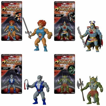 """Picture of FUNKO SAVAGE WORLD  5 1/2"""" THUNDER CATS WAVE 1 SET OF 4  ACTION FIGURES LION-O"""