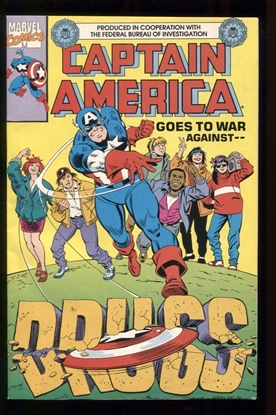 Picture of CAPTAIN AMERICA GOES TO WAR AGAINST DRUGS (1990) #1 8.0 VF