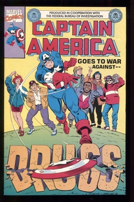 Picture of CAPTAIN AMERICA GOES TO WAR AGAINST DRUGS (1990) #1 9.2 NM-
