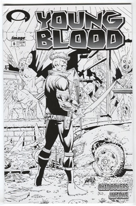 Picture of YOUNGBLOOD #6 CVR D B&W WALKING DEAD #1 TRIBUTE VAR