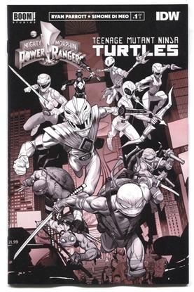 Picture of POWER RANGERS TEENAGE MUTANT NINJA TURTLES #1 UNLOCK B&W ED