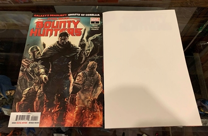 Picture of STAR WARS BOUNTY HUNTERS (2020) #1 1ST PRINT & BLANK COVER SET NM