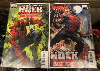 Picture of IMMORTAL HULK GREAT POWER #1 1ST & 2ND PRINT SET NM