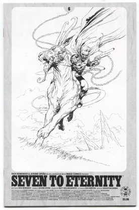 Picture of SEVEN TO ETERNITY #6 CVR D SPAWN MONTH B&W VAR