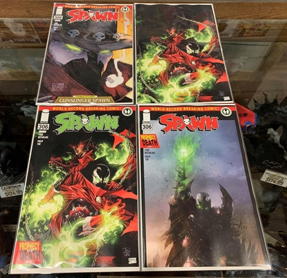 Picture of SPAWN #306 CVR A B C D 4 COVER SET NM MATTINA TAN MCFARLANE