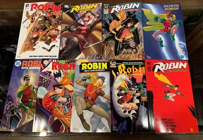 Picture of ROBIN 80TH ANNIV 100 PAGE SUPER SPECT (2020) #1 9 COVER SET NM