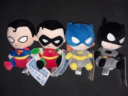Picture of FUNKO D.C. MOPEEZ SET OF 4 BATMAN ROBIN SUPERMAN BATGIRL NEW VAULTED