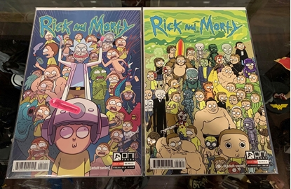Picture of RICK & MORTY (2015) #50 CVR A & C 2 COVER SET NM