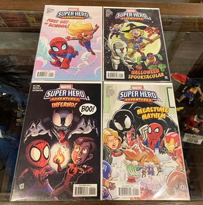 Picture of MARVEL SUPER HERO ADVENTURES  #1 CAPTAIN MARVEL & SPIDER-MAN 4 ISSUE SET NM