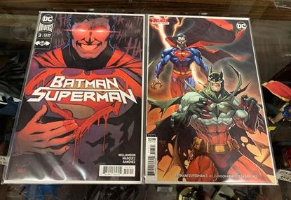 Picture of BATMAN SUPERMAN (2019) #3 1ST PRINT & VARIANT 2 COVER SET NM