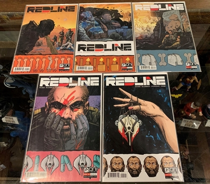 Picture of REDLINE (2017) #1-5 1ST PRINT SET NM
