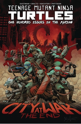 Picture of TMNT ONGOING #100 DELUXE HC