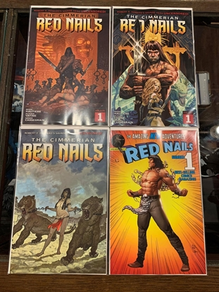 Picture of CIMMERIAN RED NAILS (2020)#1 CVR A  B D E COVER SET NM
