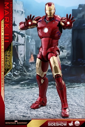 Picture of IRON MAN MARK III DELUXE VERSION 1/4 SCALE HOT TOYS