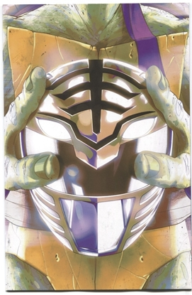 Picture of POWER RANGERS TEENAGE MUTANT NINJA TURTLES #5 THANK YOU VARIANT COVER NM-
