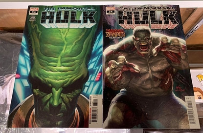 Picture of IMMORTAL HULK #34 1ST PRINT & INHYUK LEE MARVEL ZOMBIES VARIANT COVER SET NM