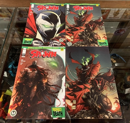 Picture of SPAWN #307 CVR A B C D 4 COVER SET NM MATTINA TAN MCFARLANE