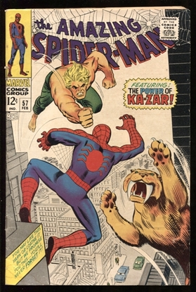 Picture of AMAZING SPIDER-MAN (1963) #57 4.0 VG