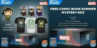 Picture of FREE COMIC BOOK DAY 2020 FUNKO PX EXCLUSIVE MARVEL MYSTERY BOX 1/A SIZE 2XL