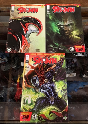 Picture of SPAWN #308 CVR A B C 3 COVER SET NM