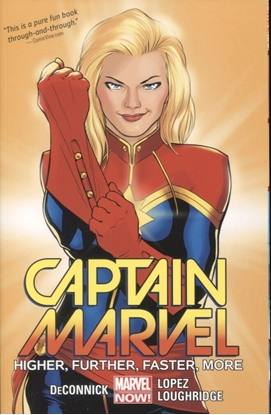 Picture of CAPTAIN MARVEL TPB VOL 1 HIGHER FURTHER FASTER MORE
