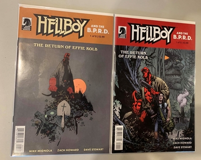 Picture of HELLBOY & BPRD RETURN OF EFFIE KOLB #1 CVR A HOWARD B MIGNOLA SET