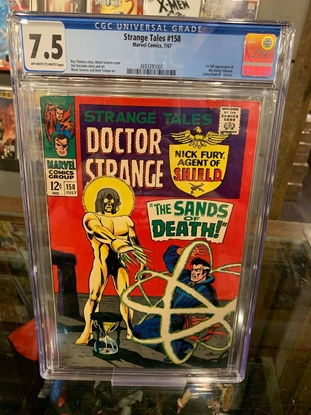Picture of STRANGE TALES (1951) #158 CGC 7.5 VF- OWW