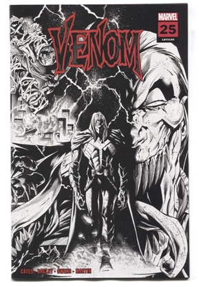 Picture of VENOM #25 1:25 3RD PRINT STEGMAN B&W WRPAD VARIANT NM-