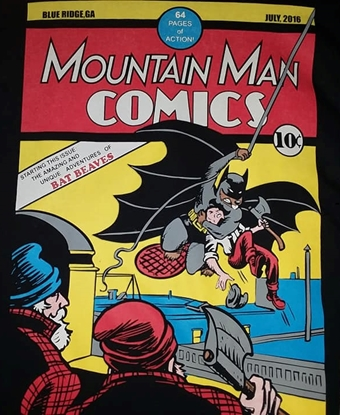 Picture of MOUNTAIN MAN COMICS DETECTIVE COMICS #27 COMIC RECREATION TEE-SHIRT 3X-LARGE NEW
