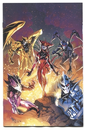 Picture of MIGHTY MORPHIN POWER RANGERS #53 1:25 CAMPBELL VIRGIN VARIANT NM