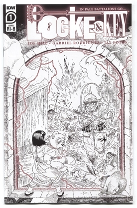 Picture of LOCKE & KEY IN PALE BATTALIONS GO (2020) #1 1:25 VARIANT COVER VF/NM