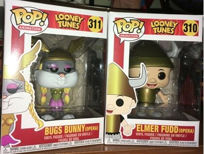 Picture of FUNKO POP ANIMATION LOONEY TUNES VIKING BUGS # 311 & VIKING ELMER FUDD #310 NEW
