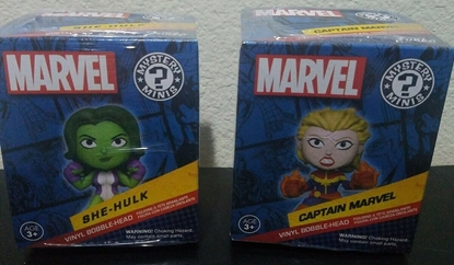 Picture of FUNKO MARVEL COLLECTOR CORPS MYSTERY MINI SET OF 2 SHE-HULK CAPTAIN MARVEL NEW