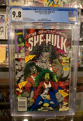 Picture of SENSATIONAL SHE-HULK (1989) #15 CGC 9.8 NM/MT WP