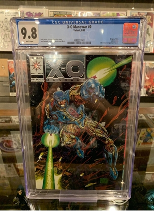 Picture of X-O MANOWAR (1992) #0 9.8 NM/MT WP METALLIC COVER
