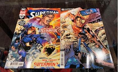 Picture of SUPERMAN #25 CVR A IVAN REIS & CVR B BRYAN HITCH SET NM